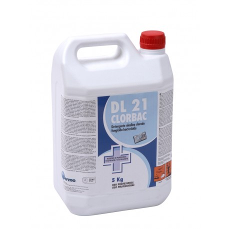 DL 21 Clorbac. Détergent Alcalin Chloré Fongicide Bactéricide