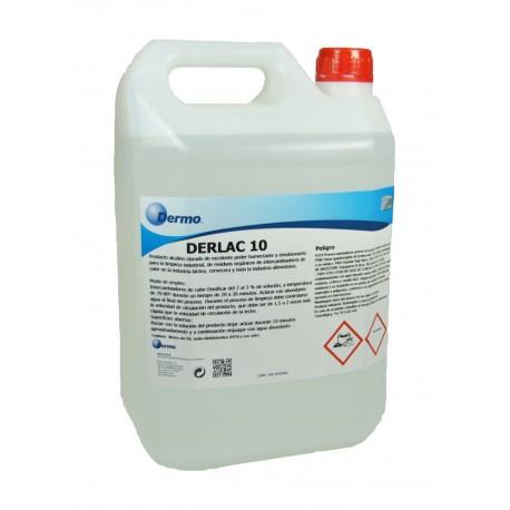Derlac 10. Detergente alcalino clorado