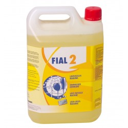 Fial 2. Soft-medium water  dishwasher detergent